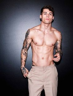 Tats and guages I've seriously posted him (Stephen James) like a billion times
