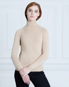 camel Paul Costelloe Living Studio Laura Roll Neck