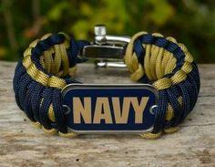 Wide Survival Bracelet - Officially Licensed - U. Us Navy Love, Go Navy, Navy Girl, Paracord Bracelet Survival, Paracord Bracelets, Survival Bracelets, Navy Sister, Navy Mom, Survival Straps
