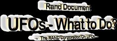 Rand Document - UFOs: What to Do?