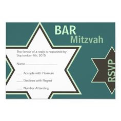 Star of David Bar Mitzvah Green & Brown RSVP Custom Announcements This site is will advise you where to buyHow to          	Star of David Bar Mitzvah Green & Brown RSVP Custom Announcements Review from Associated Store with this Deal...