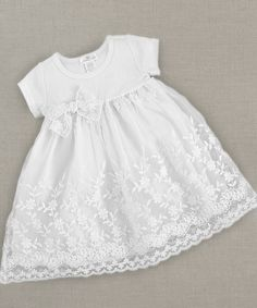 Another great find on #zulily! White Flower Lace Dress - Infant & Toddler by Truffles Ruffles #zulilyfinds