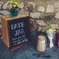 To date, our favorite wedding idea! Date nights are hard, we get into routines, it's hard to shake things up. Let your guests give their best ideas for date night! #WedPics #weddingideas #weddingplanning