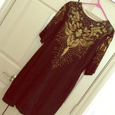 Vintage beaded dress (homecoming, prom, formal) Beautiful one of a kind vintage sequin formal dress Dresses