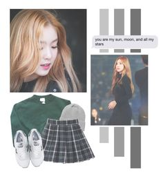 """Bae Joohyun"" by lazy-alien ❤ liked on Polyvore featuring adidas, Monki, New Balance, Irene, redvelvet and baejoohyun"