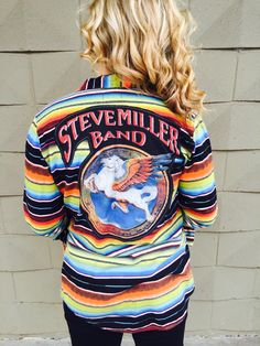 A personal favorite from my Etsy shop https://www.etsy.com/listing/265462528/handmade-vintage-steve-miller-band-tee
