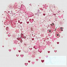 Butterfly Heart PDF Cross Stitch Pattern by XSquaredCrossStitch