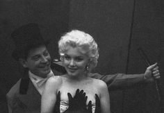 Marilyn Monroe and Milton Berle. Photo by Milton Greene, 1955.