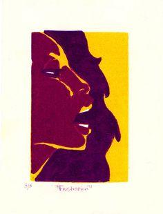 Frustration - Linoleum Print - 2002