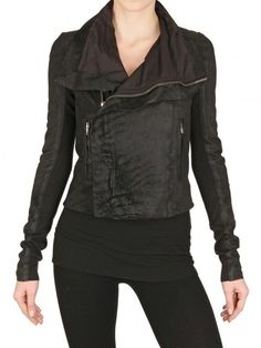 Rick Owens Blistered Nappa Leather Jacket $2463 (First thing I buy if I win the lottery.)