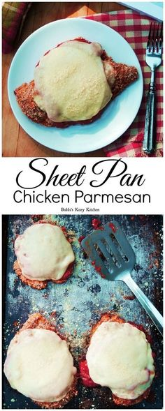 Sheet Pan Chicken Parmesan - Move over 30-minute meals, one-pot wonders, and slow cooker convenience. Sheet Pan Suppers is my new weeknight supper dream! | From www.bobbiskozykitchen.com