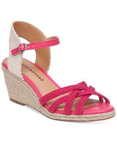 Lucky Brand Women's Kalley Cross Band Wedge Sandals