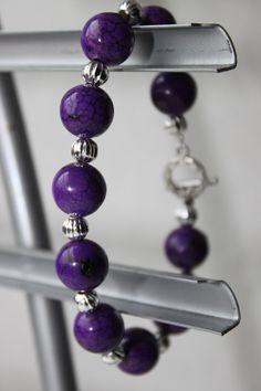 Purple: Bracelet: Beads