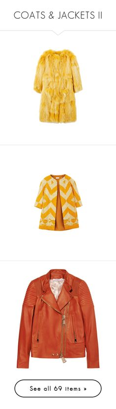 """COATS & JACKETS II"" by valenthin ❤ liked on Polyvore featuring outerwear, coats, jackets, fur, blugirl, yellow coat, fur coat, coats & jackets, tops and dries van noten coat"