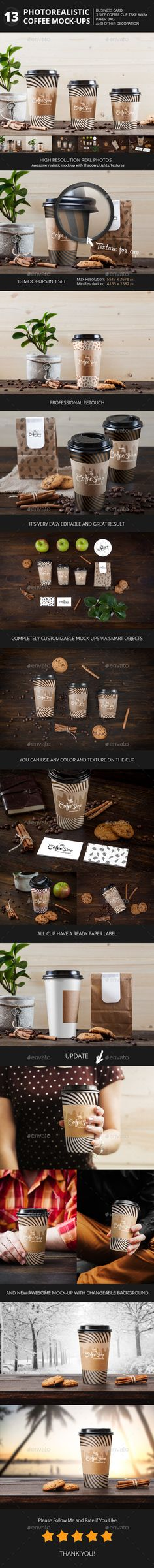 Coffee Collection Branding Mock-Up's by Temaphoto Features 9 PSD Realistic Mock-Ups High Quality Coffee and Coffee Themes Object Fully Named