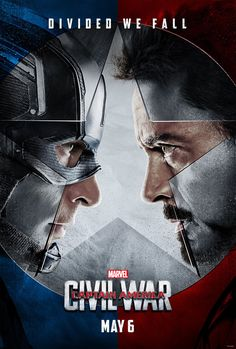 """Captain America (Chris Evans) and Iron Man (Robert Downey Jr.) face off in the first trailer for Marvel's """"Captain America: Civil War,"""" in theaters May Marvel Comics, Films Marvel, The Avengers, Captain America Civil War, Marvel Civil War Poster, Age Of Ultron, Steve Rogers, Winter Soldier, Chris Evans"""