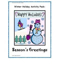 Winter Holiday Activity Pack - Season's Greetings Classroom Activity - Holiday - Subjects