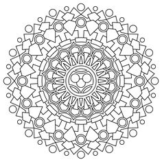 Mandalas Coloring Pages Hard
