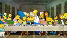 Simpsons Last supper