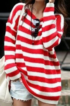 It's like a baggy Where's Waldo sweater.