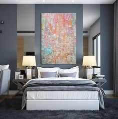 Large Abstract Wall Art Paintings for Living Room, Hand Painted Acrylic Paintings – Silvia Home Craft Large Abstract Wall Art, Large Painting, Acrylic Painting Canvas, Art Paintings, Modern Paintings, Contemporary Wall Art, Modern Art, Room Wall Painting, Extra Large Wall Art