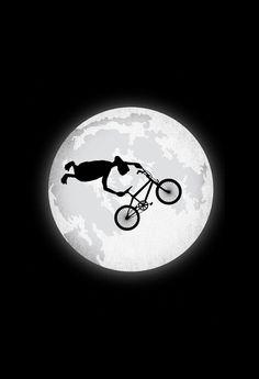 ET doesn't do the ET (Bmx trick) but instead throws a superman seat grab Bmx Bikes, Cycling Bikes, Cool Bikes, Cycling Jerseys, X Games, Bmx Vintage, Vintage Bicycles, Velo Biking, Poster