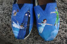 OR NEED THESE :)  Peter Pan Original Custom Acrylic Painting by SomethingFromTheSun, $120.00