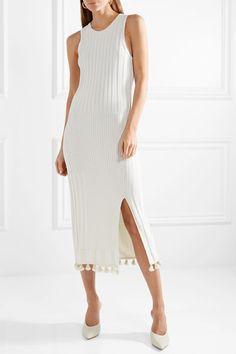 cb98fd00df2 Altuzarra - Lutetia Tasseled Ribbed Stretch-knit Midi Dress - Ivory Dress  To Impress
