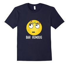 Amazon.com: Bah Humbug Shirt Emoji Tshirt: Clothing