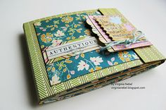 another folded creative mini album.  I loved the Authentique/Score Pal blog hop