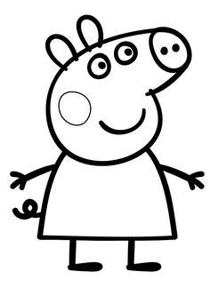 75 best peppa pig images on pinterest in 2018 peppa pig drawing 3 print coloring image peppa pig maxwellsz