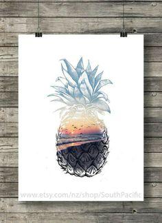 Beach and pineapple. Pinterest: @kutiejj