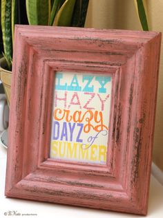 Free Printable Lazy Hazy Crazy Days of Summer Sign from B.Nute productions