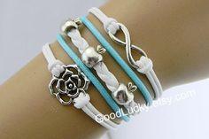 Leather Braceletapple braceletInfinity by charmjewelrybracelet, $9.99