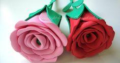 Vas a querer elaborar estas rosas de goma eva