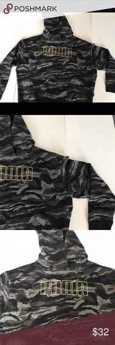 2442fdac29caf Puma Hoodie Women's M army fatigue Great condition no holes or tears Puma  Tops Sweatshirts &