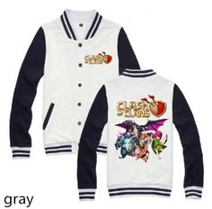 Clash of Clans sweatshirts for men COC game baseball jackets