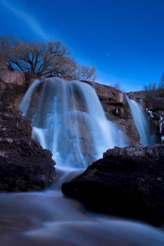 Photographer, Michael Grados took this awe inspiring picture at Bridal Falls as evening was beginning to set in. The waterfall is entirely lit by the light of the moon, and it is one spectacular show.