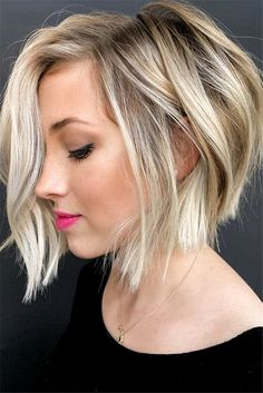 15 Classy Short Bob Hairstyles & Haircuts with Bangs 15 Classy Short Bob Hairstyles & Haircuts with Bangs,Hair Short Bob Hairstyles For Thick Hair are always exiting, today I am going to share Short. Blonde Bob Haircut, Blonde Bob Hairstyles, Bob Hairstyles For Fine Hair, Hairstyles Haircuts, Blonde Bob With Bangs, Hairstyle Short, Braided Hairstyles, Wedding Hairstyles, Classy Hairstyles