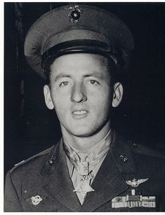 Jefferson Joseph DeBlanc (1921 -  2007) was an American World War II Marine Corps fighter pilot and flying ace and a recipient of the Medal of Honor for his actions taken on January 31  1943. He served in the Marine Corps Reserve until 1972. Citation:  For conspicuous gallantry and intrepidity at the risk of his life above and beyond the call of duty as Leader of a Section of Six Fighter Planes in Marine Fighting Squadron ONE HUNDRED TWELVE during aerial operations against enemy Japanese…