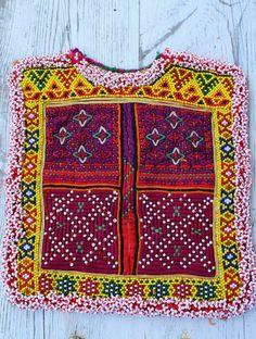 parche bordado etnico boho tribal india banjara cuentas nomada decora chaqueta bolso patch kuchi afghan vintage belly dance gyspy bohemina
