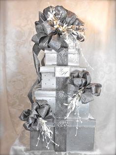 Wedding Card Box Elegantly Created Custom Card Box Gift Boxes Wedding Gift Card Box Money Holder Reception Card Box. $132.00, via Etsy.