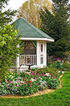 Beautiful backyard gazebo. More Midwest backyard ideas:  http://www.midwestliving.com/garden/ideas/30-beautiful-backyards/page/10/0