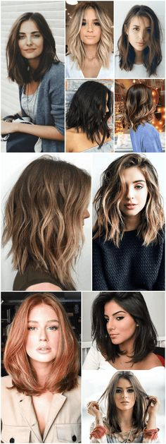 Haircut feminino long 64 Trendy ideas - New Ideas Trending Haircuts For Women, Haircuts For Long Hair, Long Bob Hairstyles, Medium Hair Cuts, Short Hair Cuts, Medium Hair Styles, Curly Hair Styles, Wavy Hairstyles Tutorial, Brown Blonde Hair