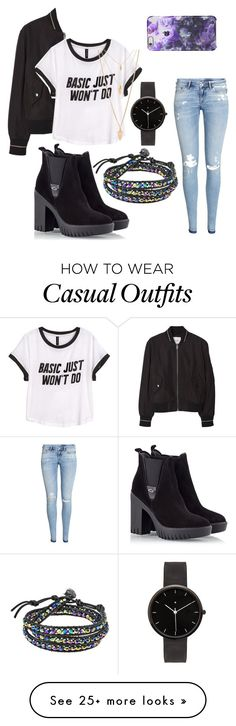 """Casual Wear"" by lunavwj on Polyvore featuring MANGO, H&M, Alberto Guardiani, AeraVida, Forever 21, I Love Ugly, women's clothing, women, female and woman"