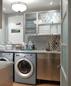 organized laundry room..