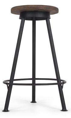 Joel barstool, £69 MADE.COM The key element of an industrial look is the use of natural, characterful materials. This combination of galvanized metal and distressed wood is bang on-trend.