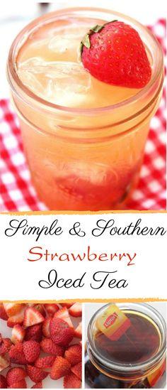 Simple & Southern Strawberry Sweet Tea #fresh #drinks