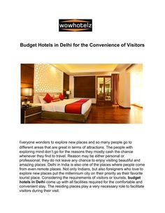 Browse, find & book budget hotels in new delhi deals & discount at wowhotelz.com. Call now for online booking 9251711711