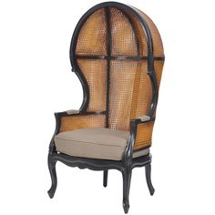 Furniture�::�Upholstered Chairs�::�French Rattan Balloon Chair